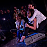 As 'Alice/A' in Cut Throat--part of the 2011 DYSPLA Festival at Theatro Technis London (photo: David J. Bevan)