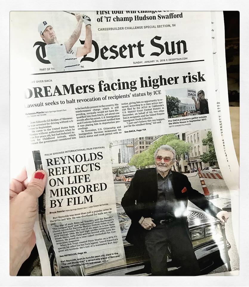 Burt Reynolds interview in the local paper.
