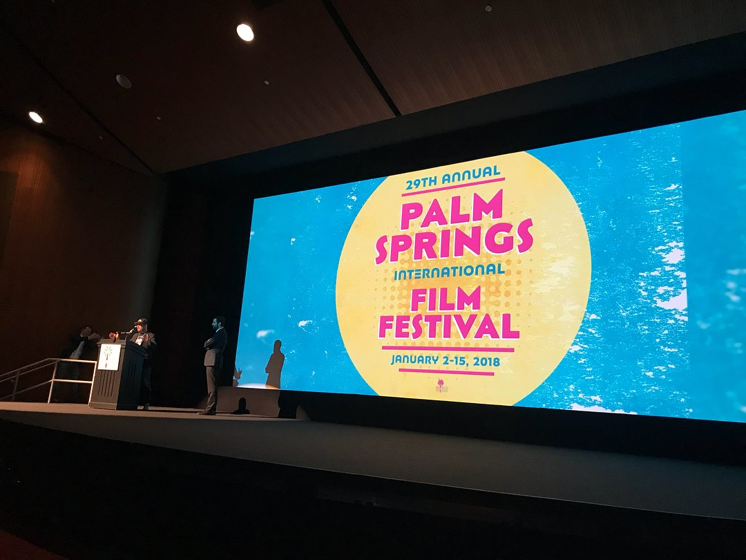 Adam Rifkin addressing the crowd before the screening at the PSIFF