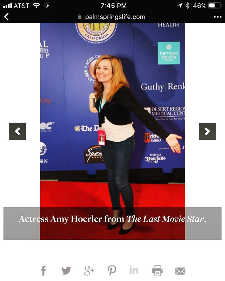 """Thank you to photographer Loretta Vlach of Palm Springs Life Magazine for including me in the story ❤️ She requested me to do the """"I MADE IT!"""" pose. I happily obliged 🌟"""